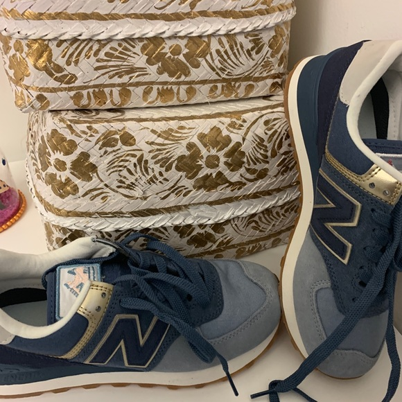 new concept cce28 ebcf3 NEVER WORK New Balance 574 METALLIC PATCH sneakers